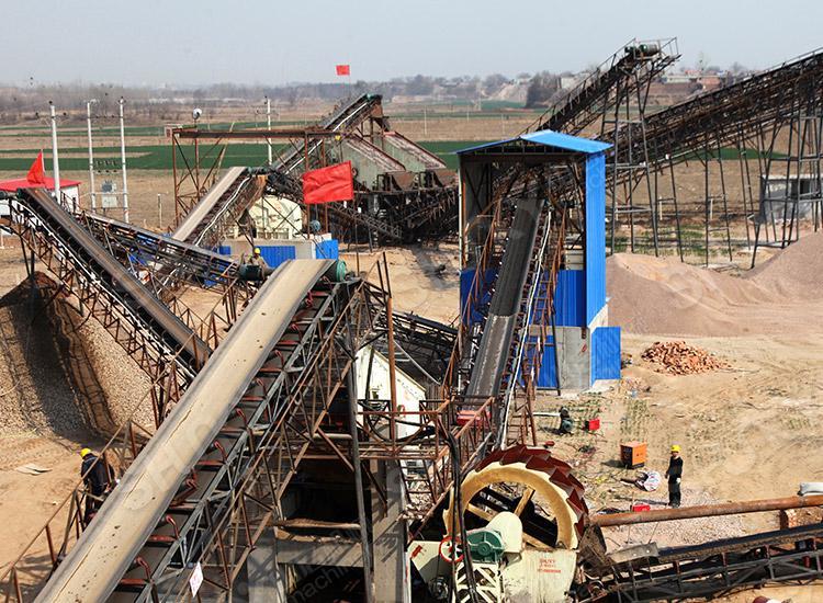 河北永年300吨/小时砂石生产线