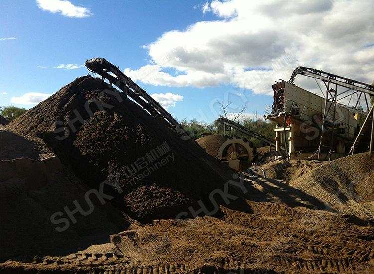 澳大利亚河石生产现场