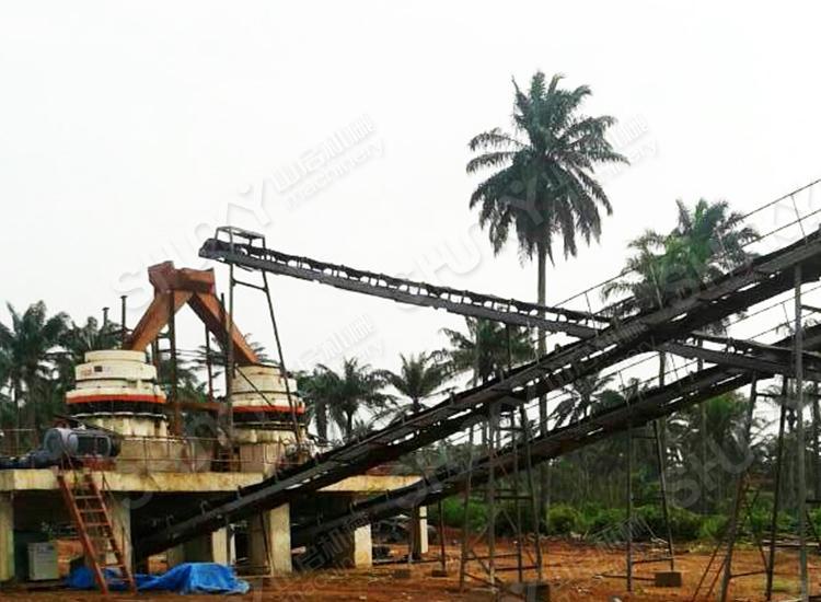 尼日利亚拉各斯花岗岩生产现场