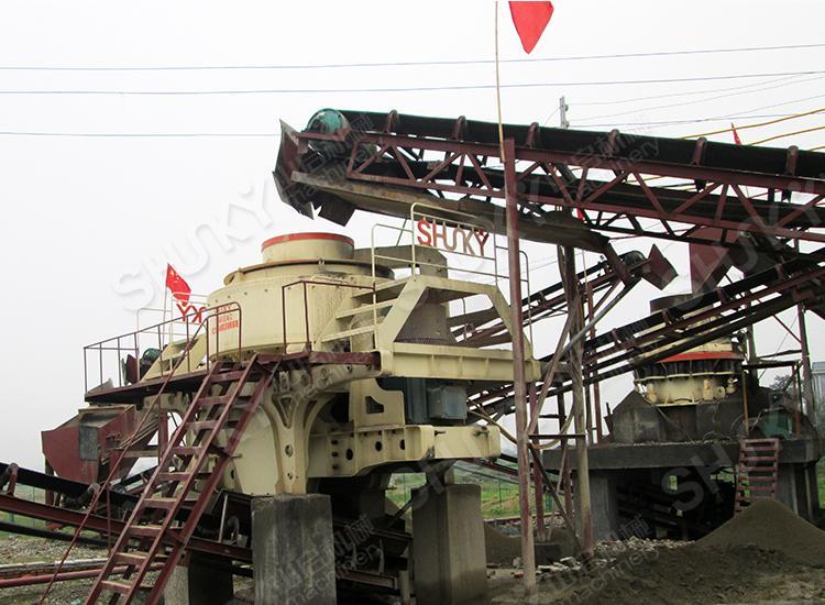 湖南时产120吨河卵石制砂生产线
